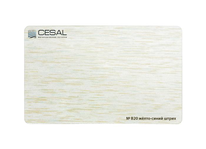 Рейка Cesal B20. Желто-синий штрих