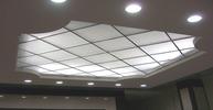 Кассетный потолок. Матовое стекло и акрил