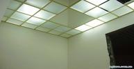 Кассетный потолок из матового стекла