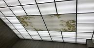 Кассетный потолок. Матовое стекло и акрил с орнаментом
